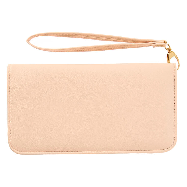 Blush Pink Faux Leather Wristlet at Icing in Victor, NY | Tuggl