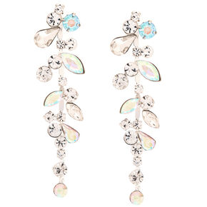 Crystal and Stone Bundle Drop Earrings,