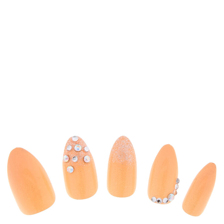 Nude Bling Fake Nails at Icing in Victor, NY | Tuggl