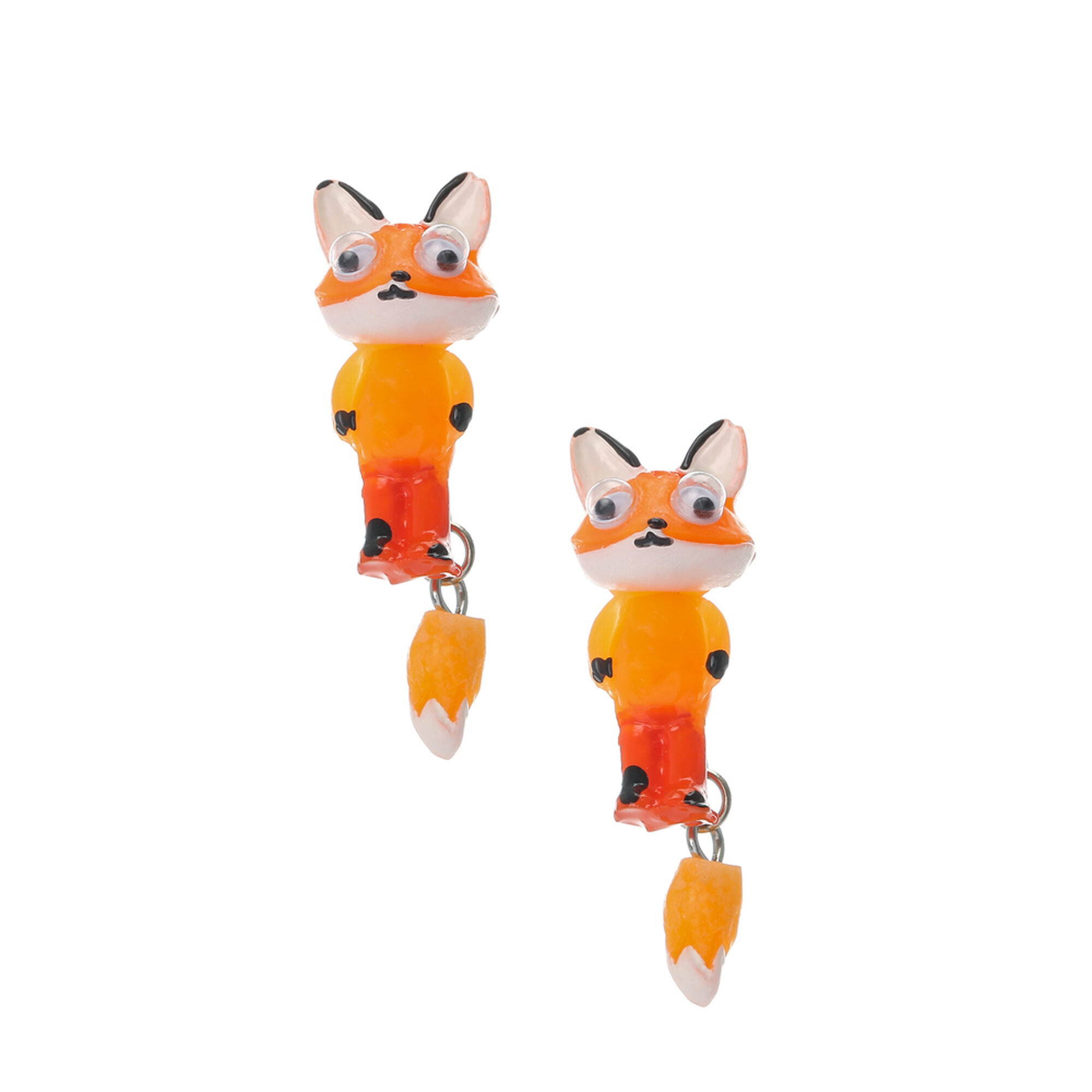 Fox Front And Back Earrings,