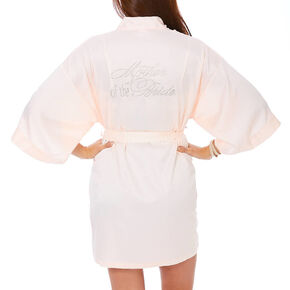 Light Pink Satin and Crystal Mother of the Bride Robe,