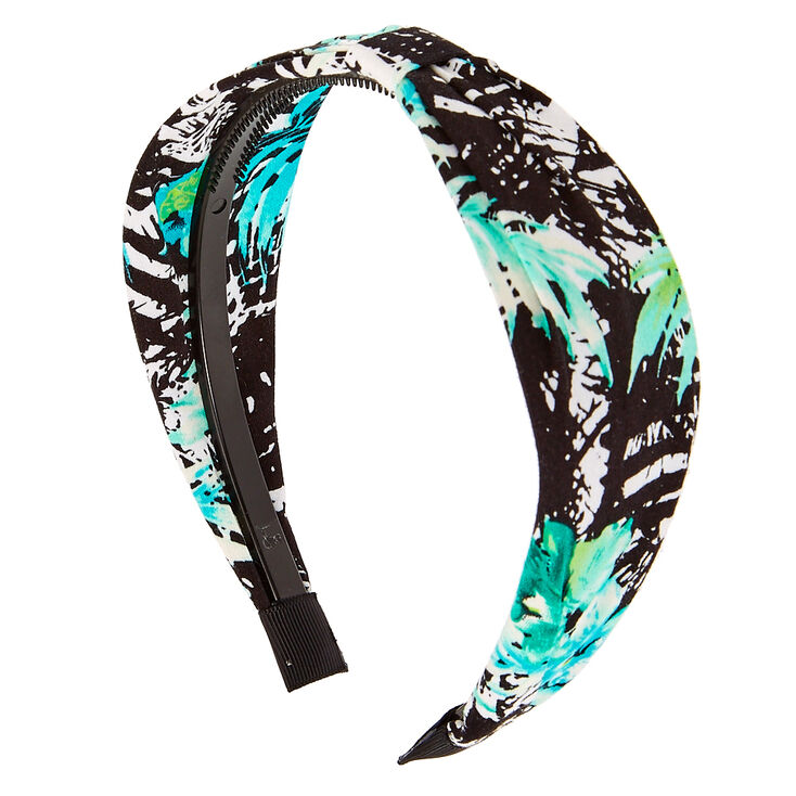 Green Leaf Print Headband,
