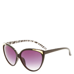 Black Zebra Cat Eye Sunglasses,