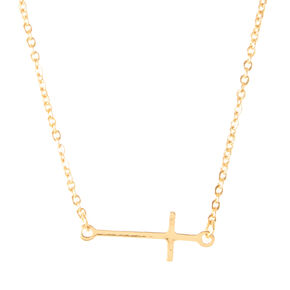 Gold Cross Necklace,