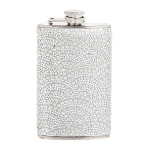 Scalloped Rhinestone and Pearl Flask,