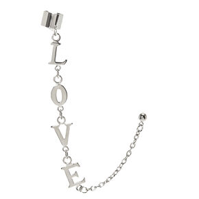 Silver-tone LOVE Chain Ear Cuff,