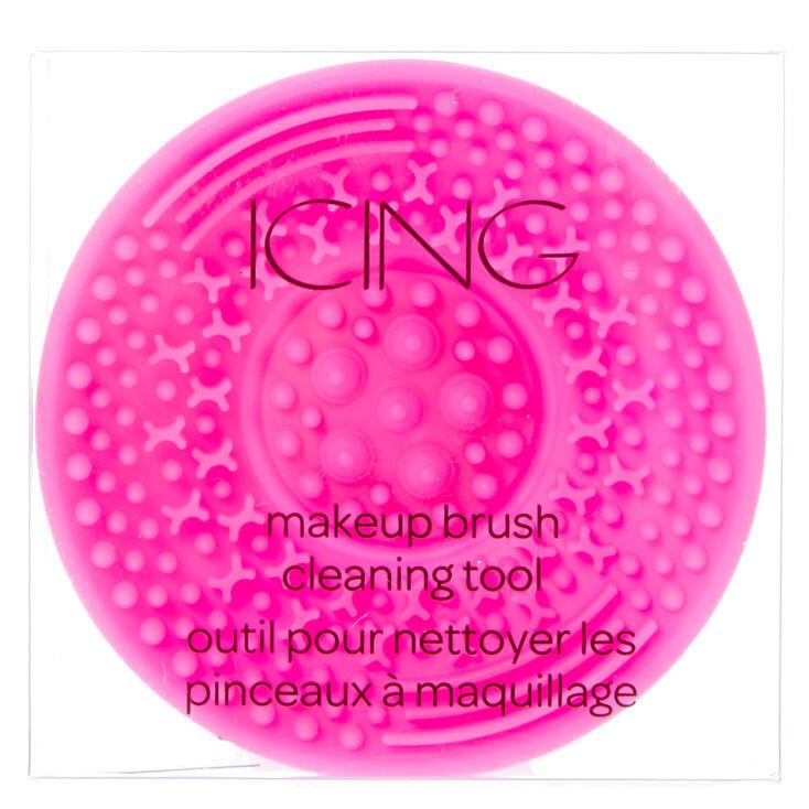 Hot Pink Makeup Brush Cleaning Tool,