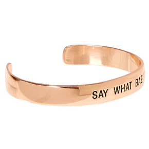 Rose Gold-Tone SAY WHAT BAE Cuff Bracelet,