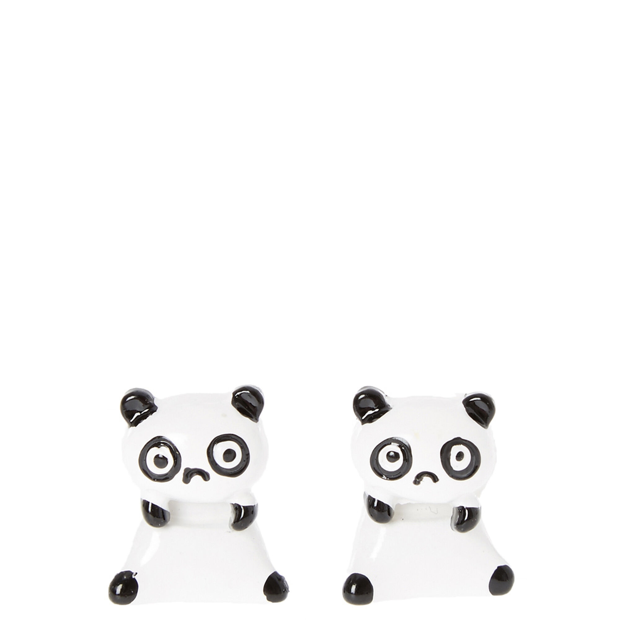 Panda Front And Back Earrings,
