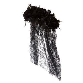 Spike Veil Black Headband,