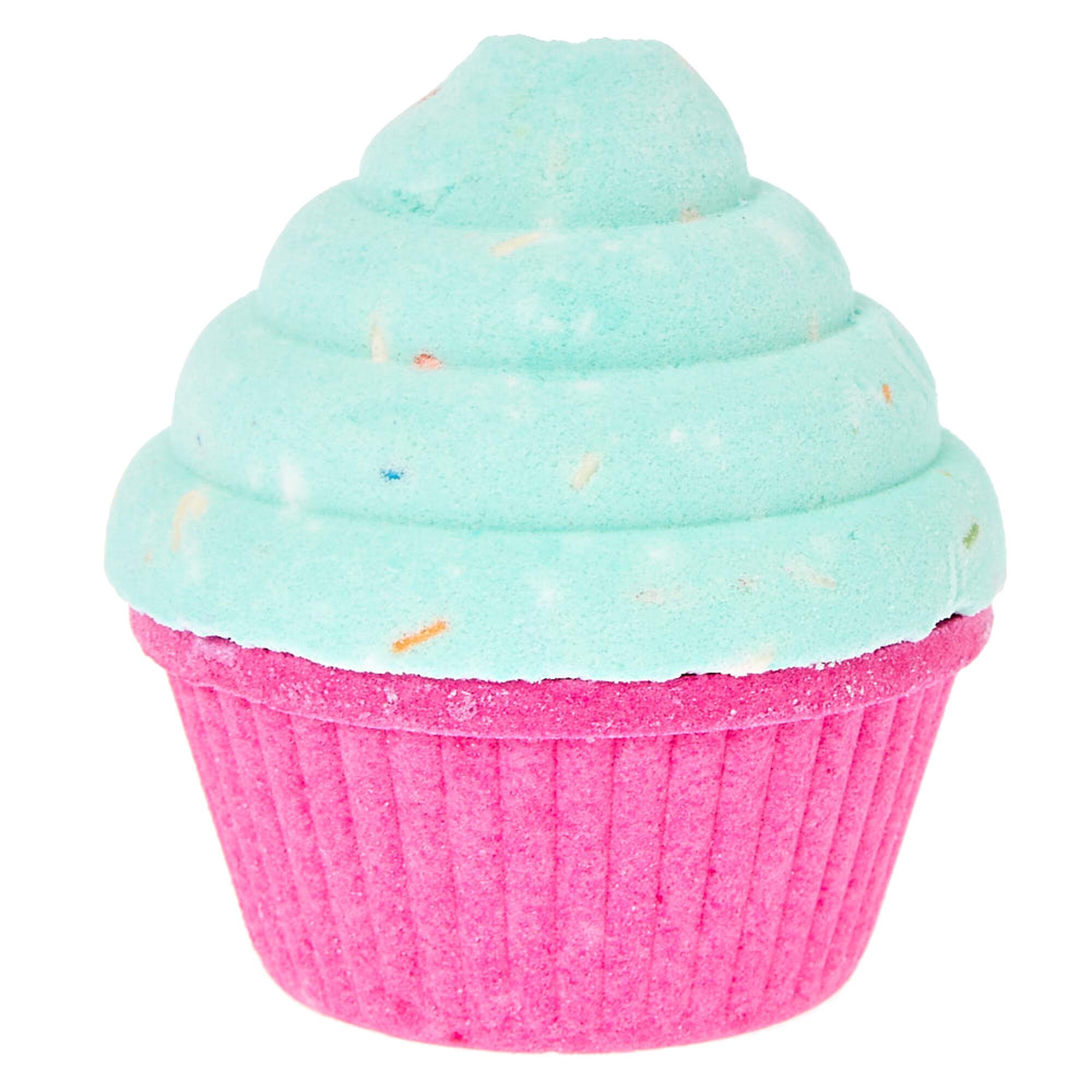 mint green cupcake bath
