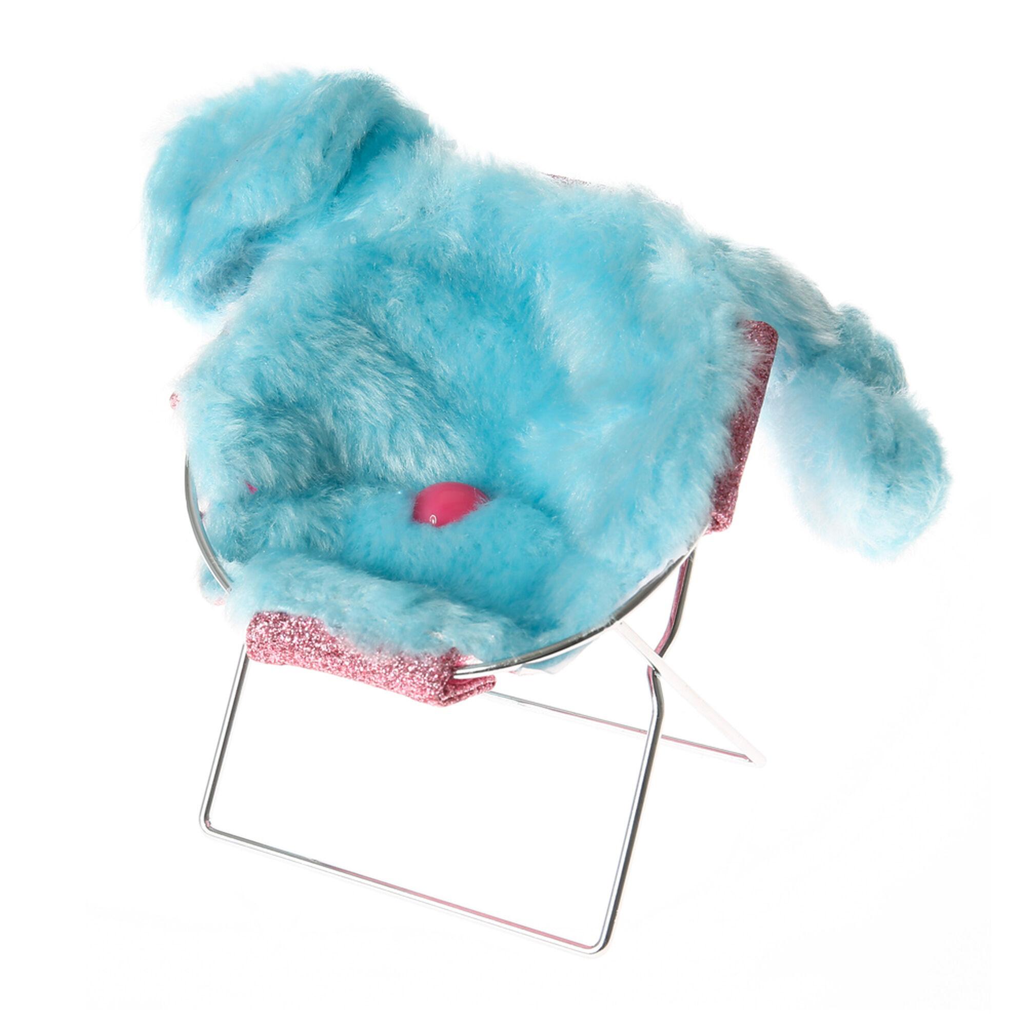 Plush Blue Bunny Phone Chair Holder