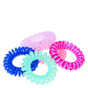 Pink and Blue Mini Coiled Hair Ties,