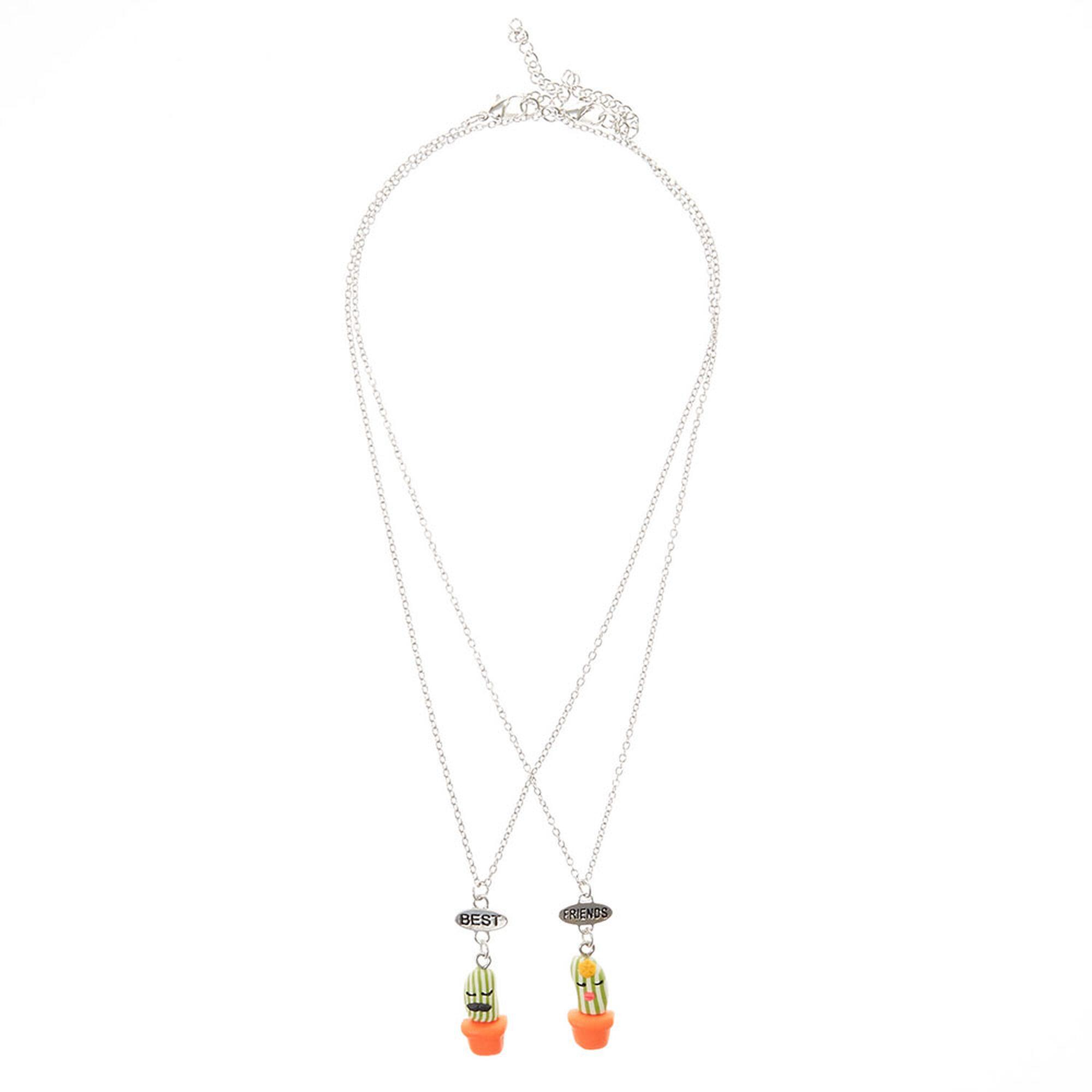 cute cactus best friend necklaces claires us