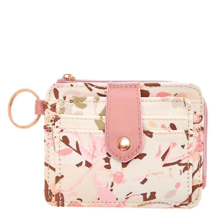 Cream & Blush Pink Mini Coin Wallet,