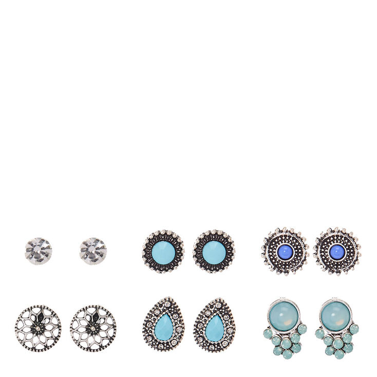 Silver and Turquoise Festival Stud Earrings at Icing in Victor, NY | Tuggl