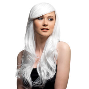 Halloween Premium Long White Wig,
