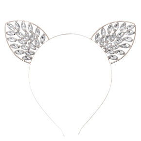 Hematite Bling Cat Ears Headband,