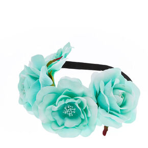 Oversized Mint Green Flower Headwrap,