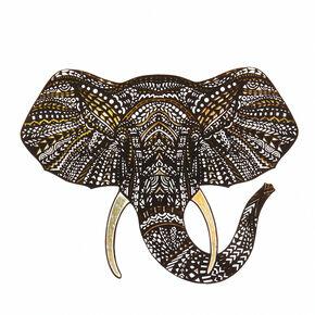 Elephant Laptop Decal,