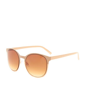 Nude Rose Gold Sunglasses,