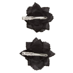 Black Rose Hair Barrettes,