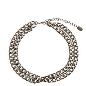Hematite Double Chain Choker,