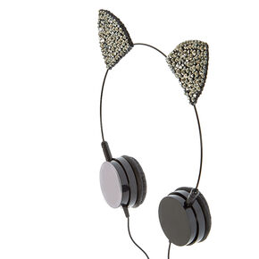 Hematite Cat Ear Headphones,