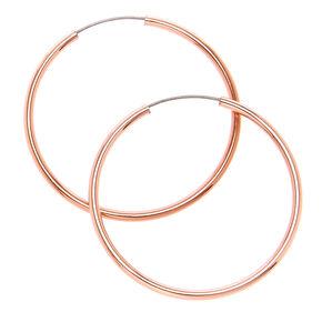25MM Skinny Rose Gold Hoop Earrings,