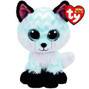 TY Beanie Boo Large Piper the Chevron Fox Plush Toy,