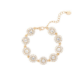 Pavé Crystal and Rhinestone Circles Bracelet,