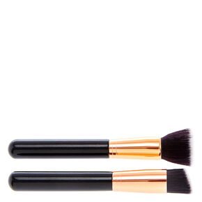 HD Foundation & Flat Kabuki Brush Duo Set,