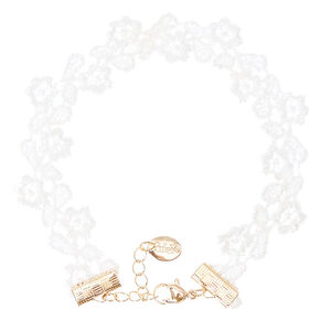 White Flower Lace Anklet,