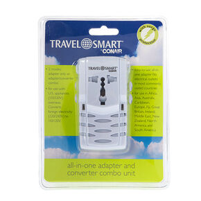 Travel Smart by Conair® All-In-One Adapter and Converter Combo Unit,