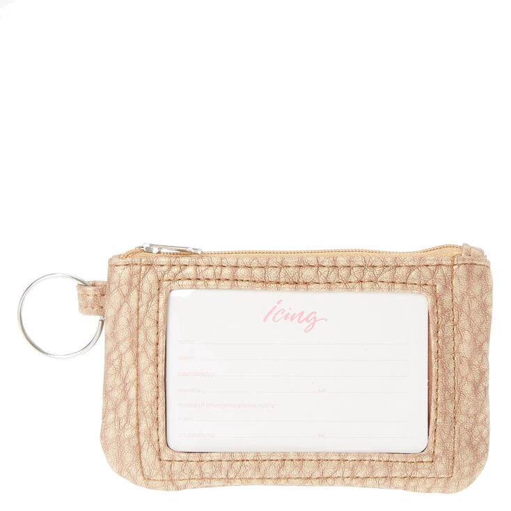 Rose Gold Keyring Wallet,