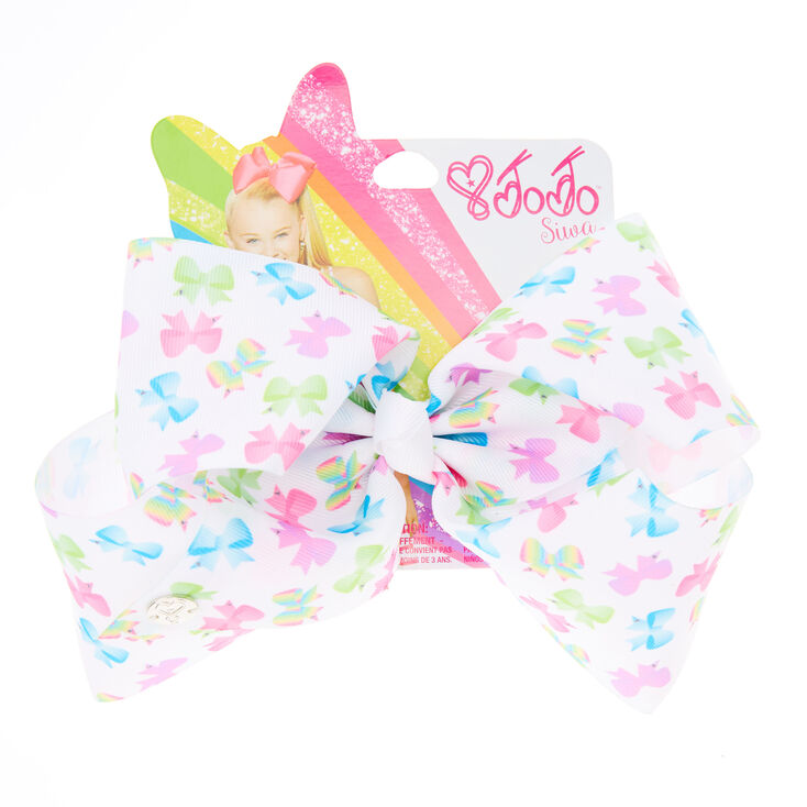 Jojo Siwa Large Bow Pattern Signature Hair Bow Claire S Us