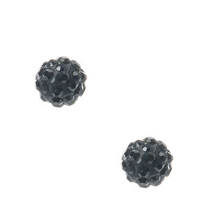 Black Fireball Stud Earrings,
