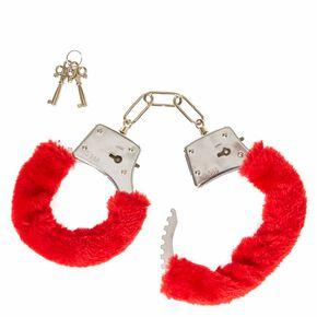 Valentine's Day Red Furry Hand Cuffs,