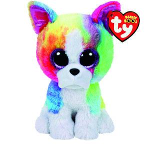 TY Beanie Boo Large Isla the Rainbow Bulldog Soft Toy,