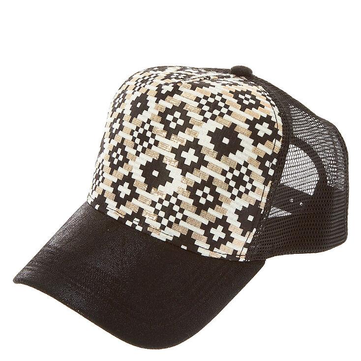 Glamorous Black Truck Hat,