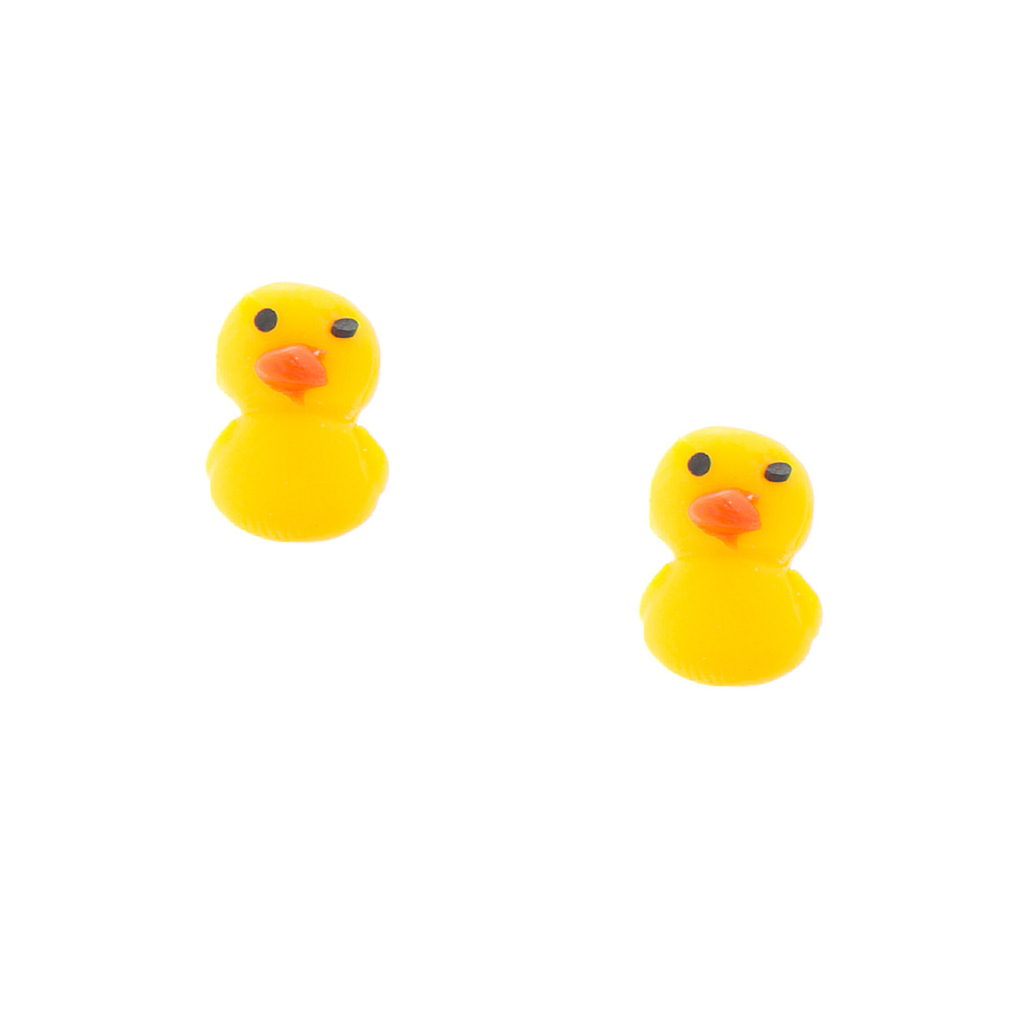 rubber ducky stud earrings claire u0027s ca