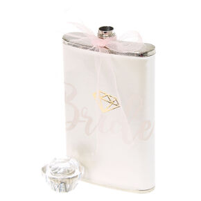 Pearl White Bride Flask,