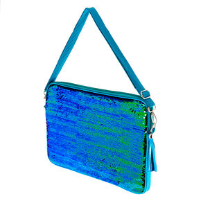 Turquoise Reverse Sequin Laptop Sleeve,