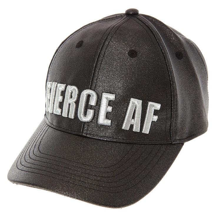 Black Glitter Fierce AF Baseball Hat at Icing in Victor, NY | Tuggl