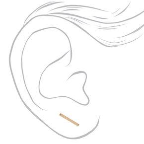 Gold-tone Bar Ear Crawlers,