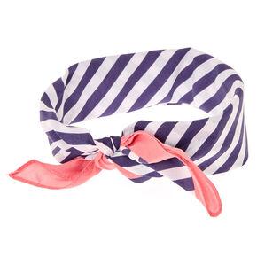 Navy & White Stripe Bandana Headwrap,