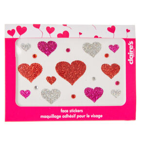 Glitter Body Heart Stickers,