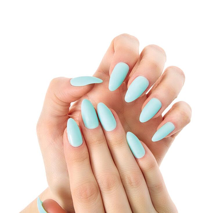 Mint Matte Stiletto Instant Nails at Icing in Victor, NY | Tuggl