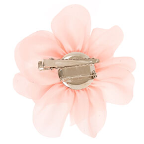 Pink Blush Satin Flower Hair Clip & Brooch,