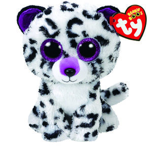 TY Beanie Boo Large Violet the Leopard Plush Toy,